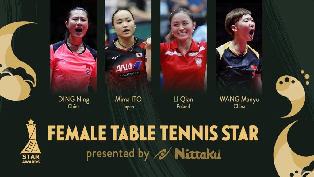 Głosujcie na Li Qian w ITTF Star Awards!