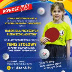 Rusza klasa o profilu tenis stołowy